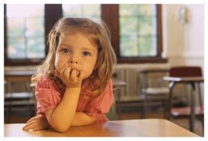 Little Girl in Classroom 2000